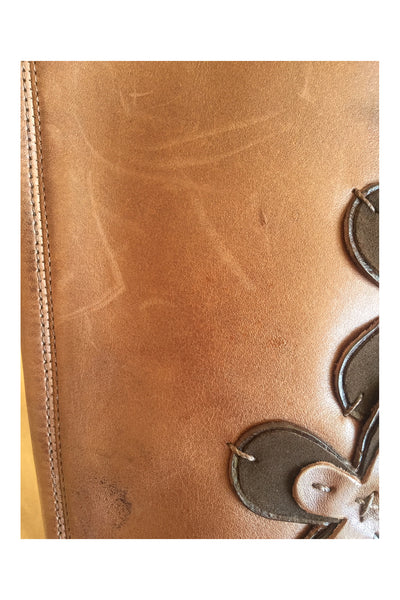 Caravelle Hollyhock boots showing small marks on leather