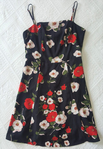 Knight Angel preloved black and red floral dress