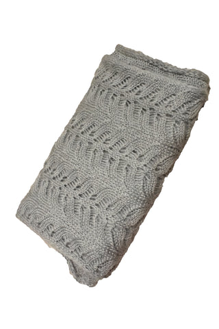 Grey infinity scarf, folded