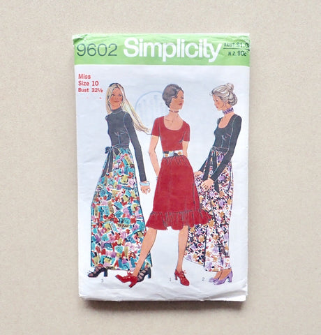 simplicity 9602 vintage sewing pattern packet front