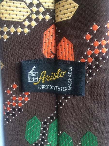 Aristo retro elastic tie label