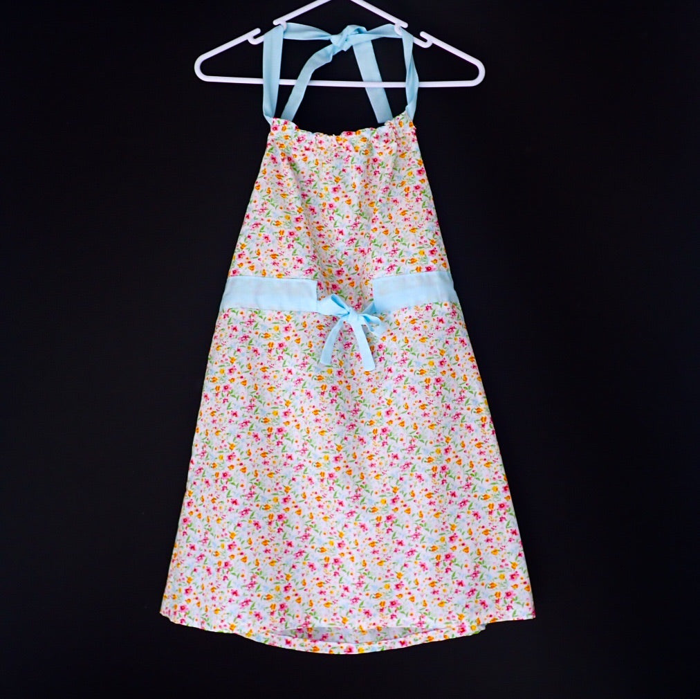 Handmade girl's floral dress front