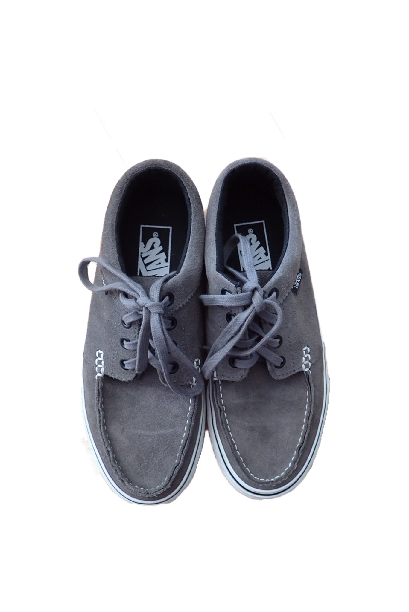 Grey unisex pre-owned Vans loafers.