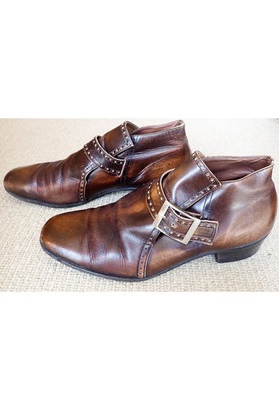 Men's vintage brown leather shoes size 10