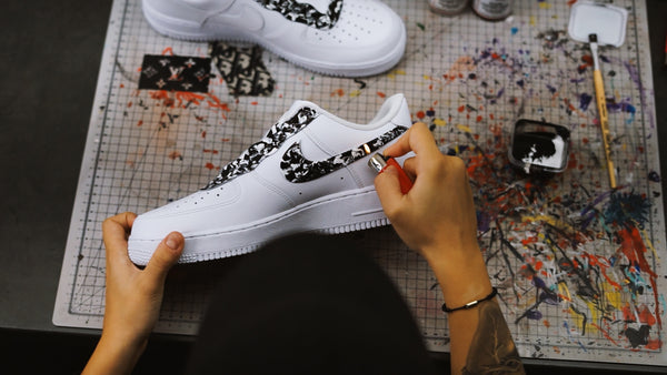 Making of Nike AF1 Marble