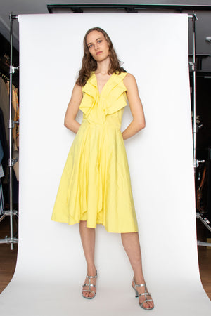 A 1990s Yellow Gianni Versace Cotton Dress S