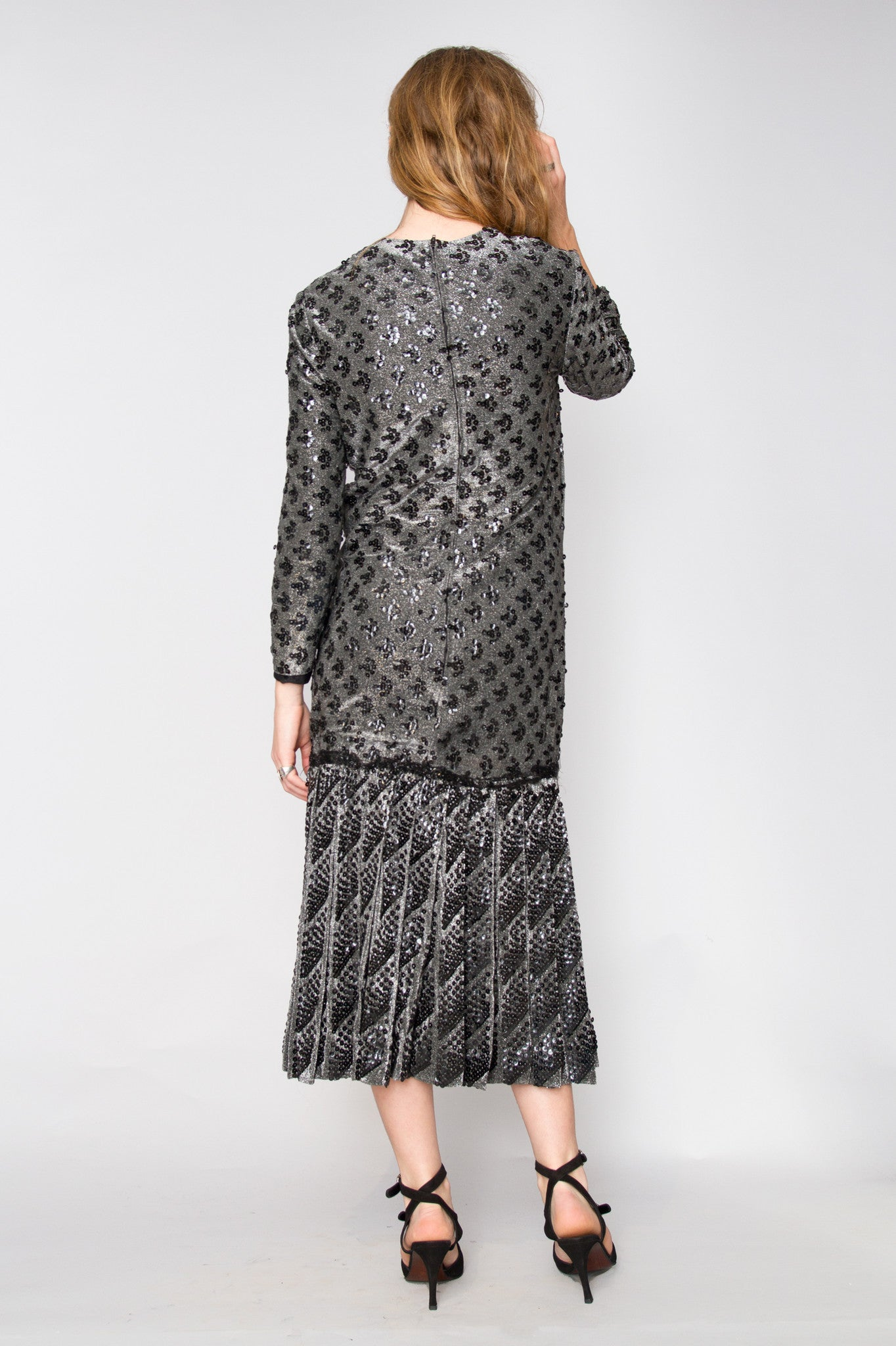 60s Dior Sequined Lurex Dress S