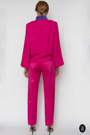 80s Yves Saint Laurent Rive Gauche Ensemble XS