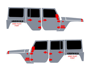 Custom Text for Jeep Wrangler over rear fender