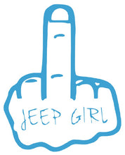 Load image into Gallery viewer, Jeep Girl Middle Finger Wave
