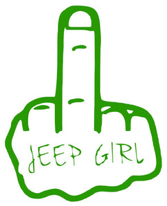 Jeep Girl Middle Finger Wave