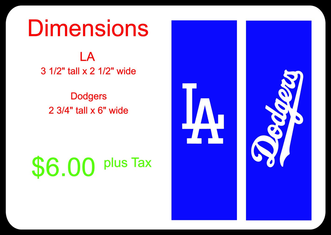 Los Angeles Dodgers Logo for Bottle (Custom Order)