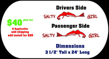 Load image into Gallery viewer, Salty Girl w/Redfish Design for Jeep Wrangler (Custom Design)