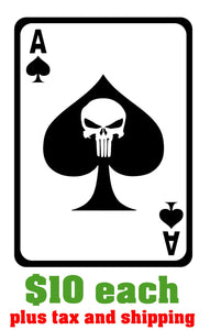 Ace of Spades with Punisher center