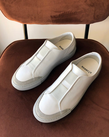 Slip On  Sneakers in white and grey by DiVERGE  Review