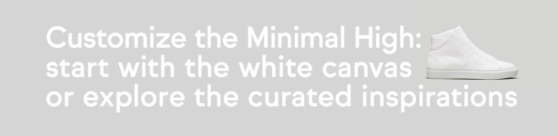 Instructions on how to customize the DiVERGE Minimal High sneaker