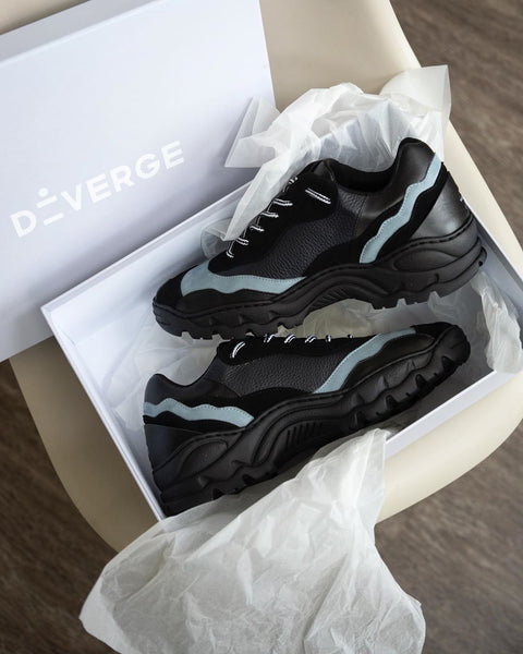 Unboxing Diverge Sneakers by @wornanddrawn
