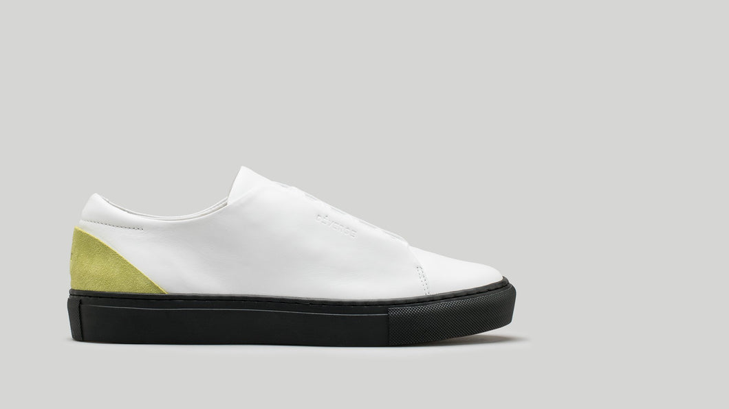 MINIMAL LOW V2 White Leather W/Lime