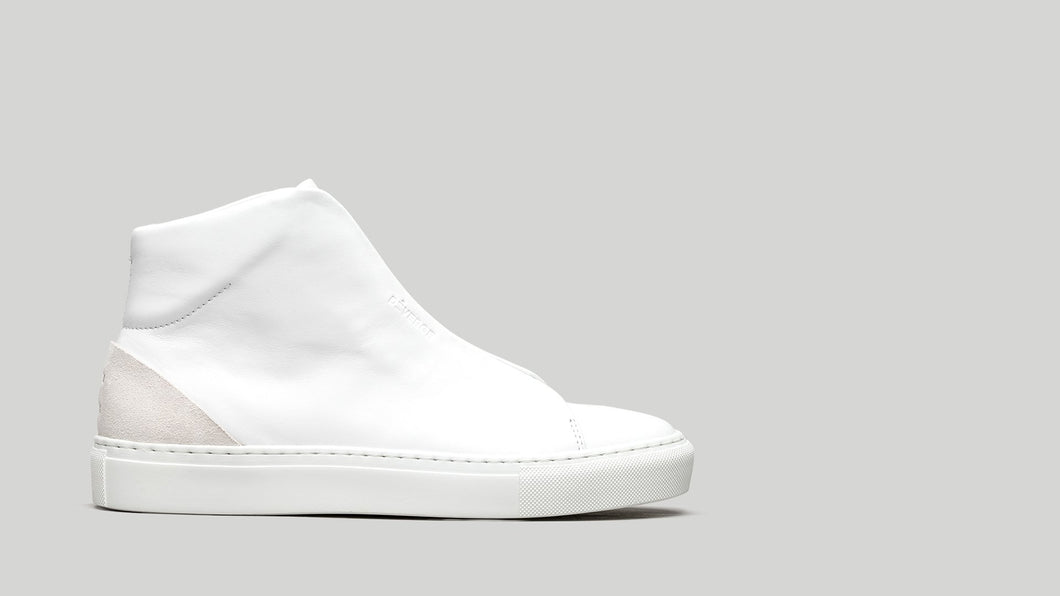 MINIMAL HIGH V8 White Leather W/Bone