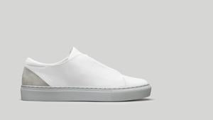 MINIMAL LOW V17 White Leather W/ Grey
