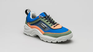 DiVERGE Sneakers Ziggy in Electric Blue, Forest, Salmon, Black and Glass