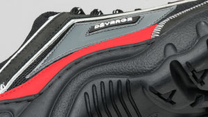 Detail of the sole on Ziggy V4 Color Mix Black and Red