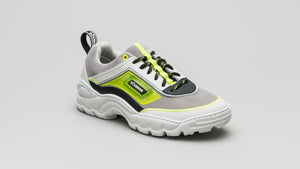 DiVERGE Sneakers Ziggy in Grey, Pale Smoke, Black, White and Neon