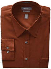 Load image into Gallery viewer, Van Heusen Men's Poplin Fitted Solid Point Collar Dress Shirt
