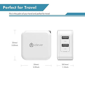 iClever BoostCube-Dual USB Travel Wall Charger