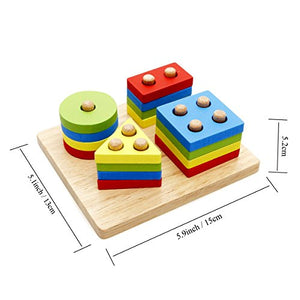 Rolimate Wooden Educational Shape Color Recognition