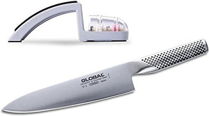 G2 Global knife, with 220/GB Knife Sharpener Set