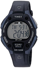 Load image into Gallery viewer, Timex Men's T5H591 Ironman Classic 30 Full-Size Black/Blue Resin Strap Watch
