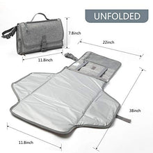 Load image into Gallery viewer, Diaper Changing Pad Portable Baby Travel Changer