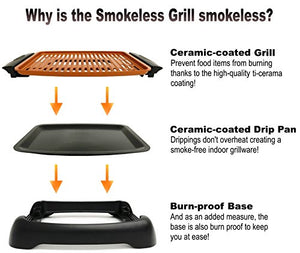 GOTHAM Smokeless Electric Grill