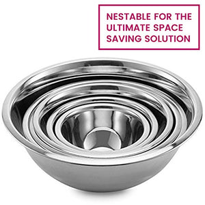 Stainless Steel Mixing Bowls by Finedine