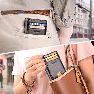 Slim Minimalist Leather Wallets for Men & Women