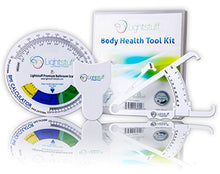 Load image into Gallery viewer, Body Fat Caliper, Body Tape Measure, BMI Calculator - Instructions For Skinfold Caliper and Body Fat Charts Included: Lightstuff Body Health Tool Kit