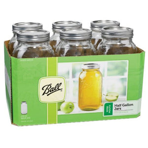 Jars with Lids & Bands + FREE White Towel