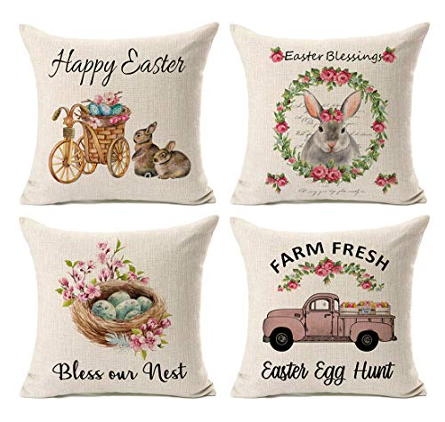 4 Happy Easter Pillow Cases