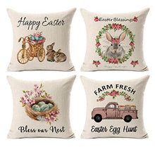 Load image into Gallery viewer, 4 Happy Easter Pillow Cases