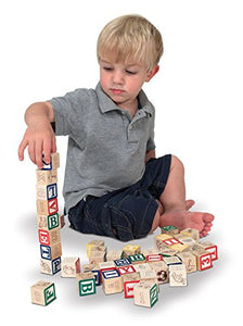 Wooden ABC/123 Blocks Set With Storage Pouch