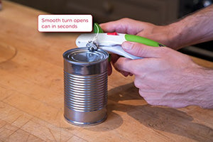 ZYLISS Lock N' Lift Can Opener with Lid Lifter Magnet, Green