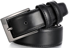 Load image into Gallery viewer, Marino's Men Genuine Leather Dress Belt with Single Prong Buckle