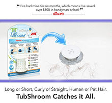 Load image into Gallery viewer, TubShroom The Revolutionary Tub Drain Protector Hair Catcher/Strainer/Snare, White
