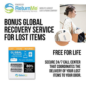 Travel Money Belt with built-in RFID Block - Includes Theft Protection and Global Recovery Tags