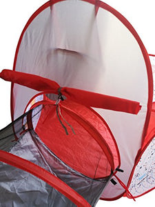Playz 3pc Rocket Ship Play Tent & Tunnel