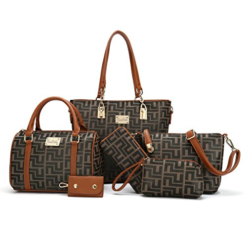 Women Shoulder Handbag | 6 Piece Set Bag