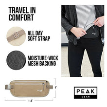 Load image into Gallery viewer, Travel Money Belt with built-in RFID Block - Includes Theft Protection and Global Recovery Tags