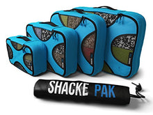 Load image into Gallery viewer, Shacke Pak - 4 Set Packing Cubes - Travel Organizers with Laundry Bag