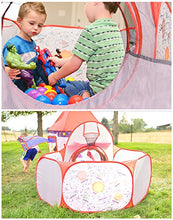 Load image into Gallery viewer, Playz 3pc Rocket Ship Play Tent & Tunnel